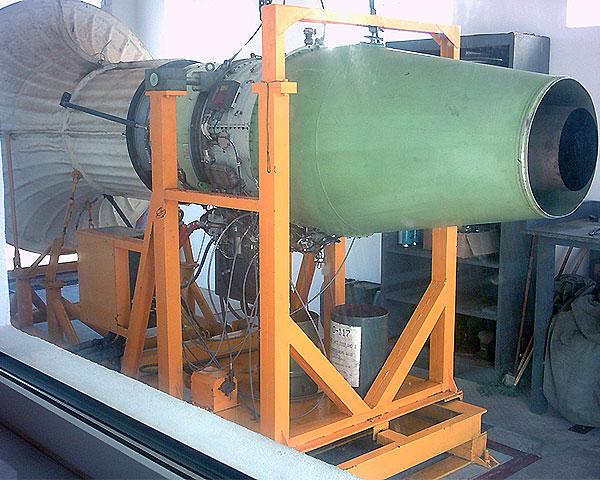 Test bench of Turbofan engine TPE 331 for the Sapanish Air Force