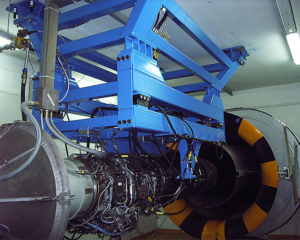The engine test bench for the Spanish Air Force J85 turbojet
