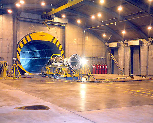 Augmented turbofan F-404 engine test bench for the Spanish Air Force