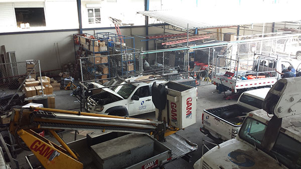 Cobra Group´s vehicles fleet maintenance in Panama