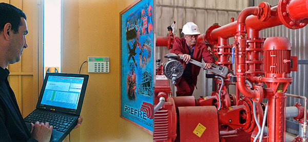 Facility management - Low voltage, fire extinguishing equipment, air conditioning.